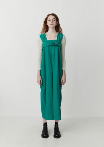 Tricot Jumpsuit — Green