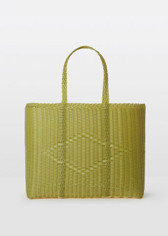 Large Handwoven Basket — Pistachio