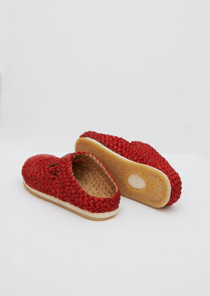Illetes Woven Flats — Red
