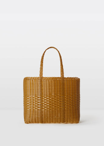 Small Handwoven Lace Tote — Tobacco