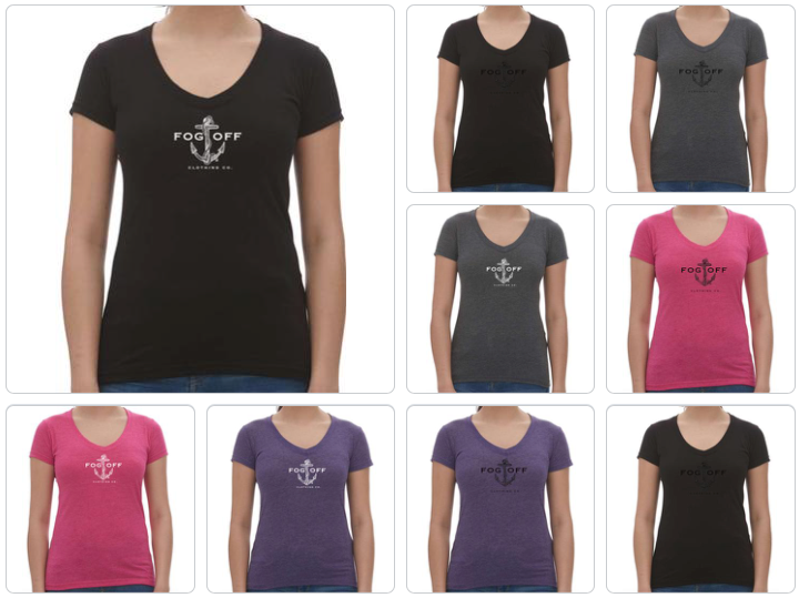 WOMAN V-NECK ANCHOR TEE
