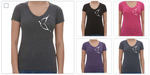 WOMANS VNECK BUTTERFLY