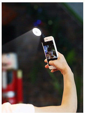 Smartphone Clip Selfie LED Flash Light Synchronous Flash Speedlite for iPhone & Android