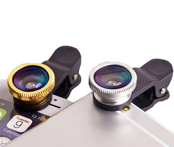 3 in 1 Fish eye Lens selfie Wide Angle mobile phone fisheye Lenses For iPhone 5 6 plus ipad Smartphone Camera lens