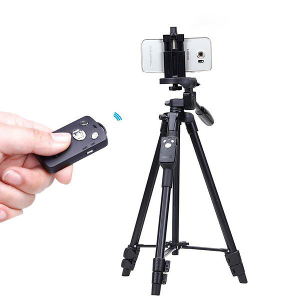 Light Weight Aluminum Tripod With Bluetooth Remote for Iphone & Smartphone