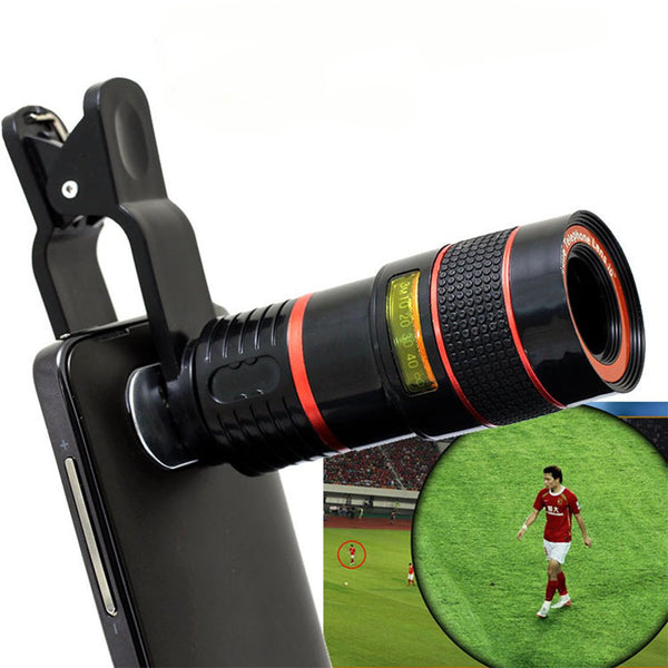 8X Zoom Mobile Phone Telescope Lens w/ Universal Clip for Smartphones