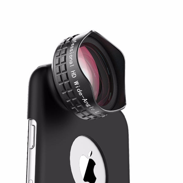 Wide Angle Cell Phone Camera Lens Kit and Clip for Smartphones