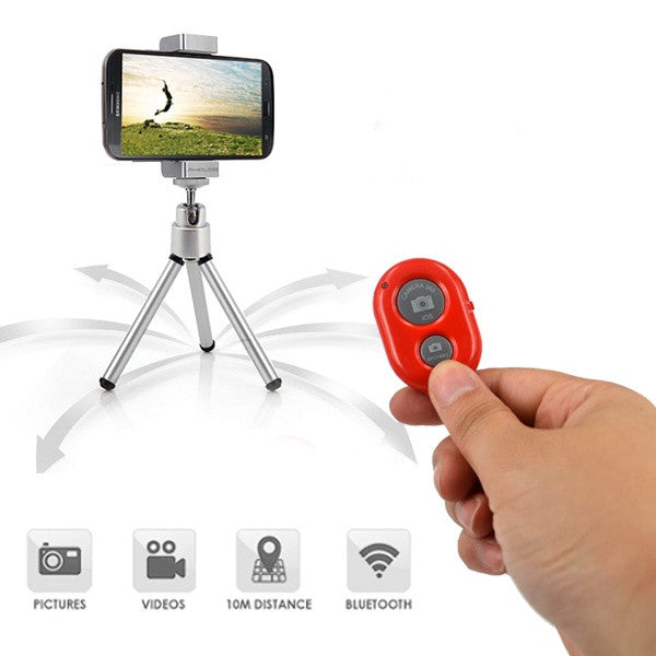 Universal Self-timer Selfie Wireless Bluetooth Remote Shutter Monopod Self Timer for iPhone & Android