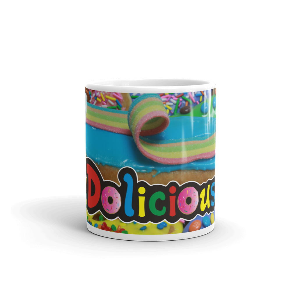 Rainbow Road Dolicious Donuts Mug made in the USA