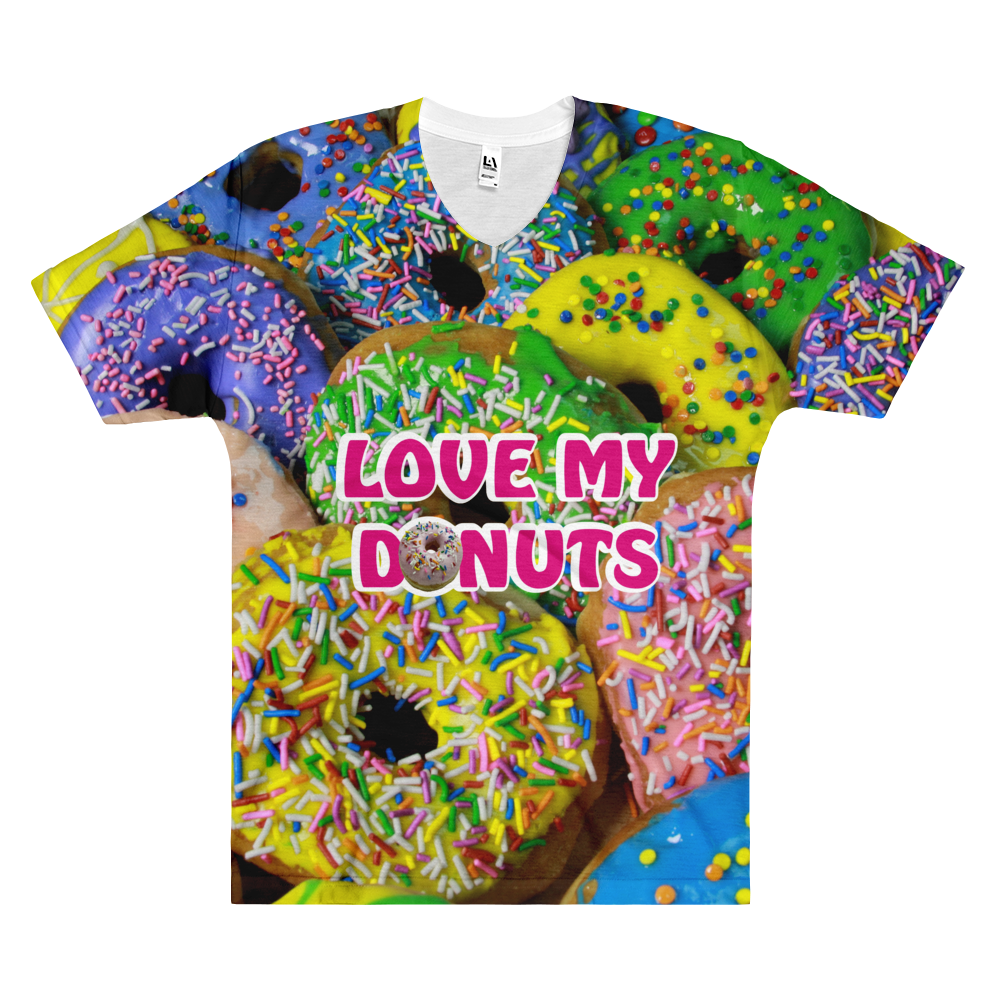 Love My Donuts Men's V-Neck T-Shirt