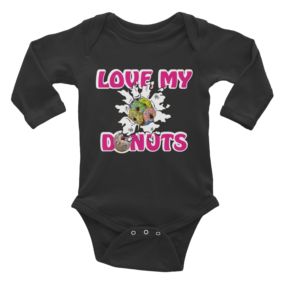 Love My Donuts Infant Long Sleeve Bodysuit