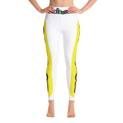 Yellow Dolicious Donuts Yoga Leggings