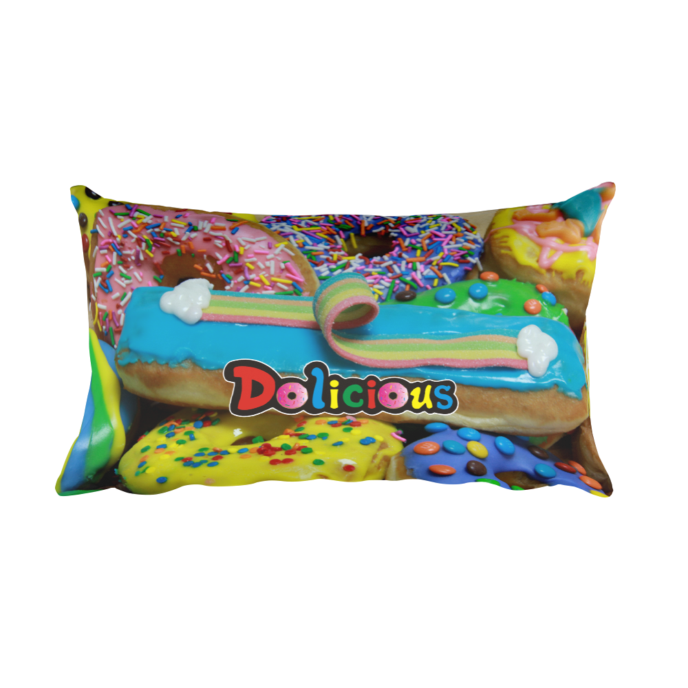 Dolicious Rainbow Road Rectangular Pillow