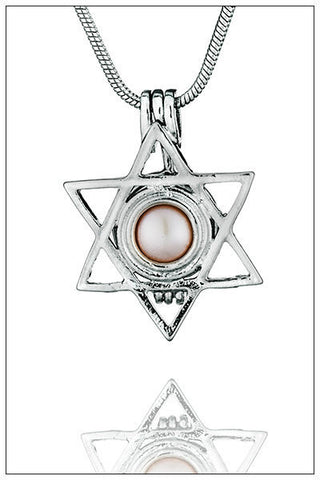 Star pendant cage with Pearl reveal