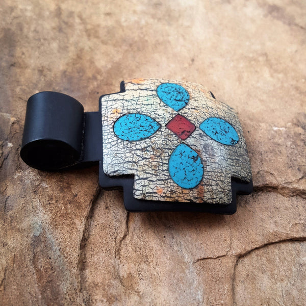 Faux stone Rustic Inlay Pendant