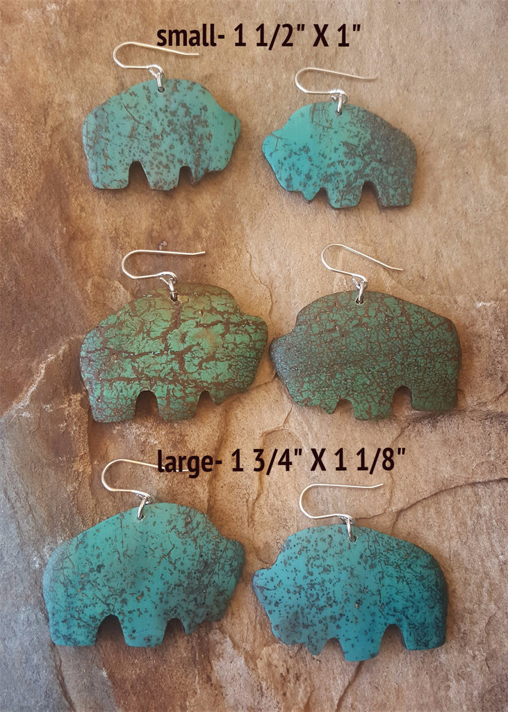 Faux stone earrings Turquoise Buffalo
