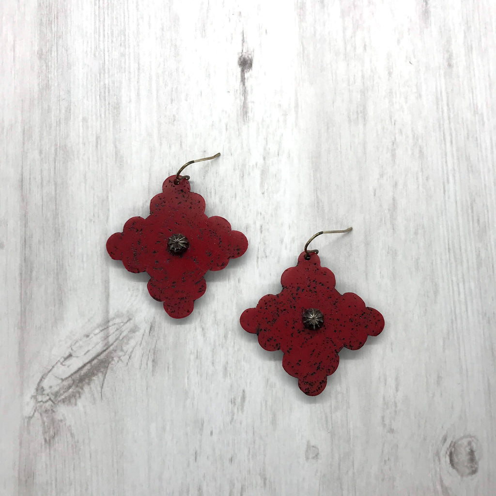 Shelby Earrings, Red