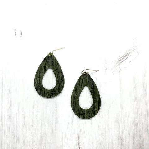 Olive Textured Earrings