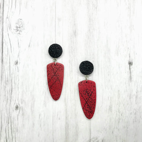 Red Lodge Earrings, Red