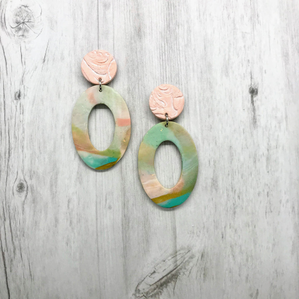 Libby Earrings, Pastel