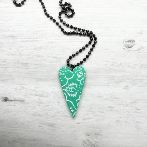 Heart Necklace, Lace