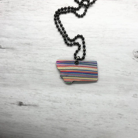 Montana Necklace, Striped