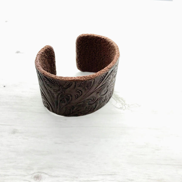 Tooled Cuff, Wide