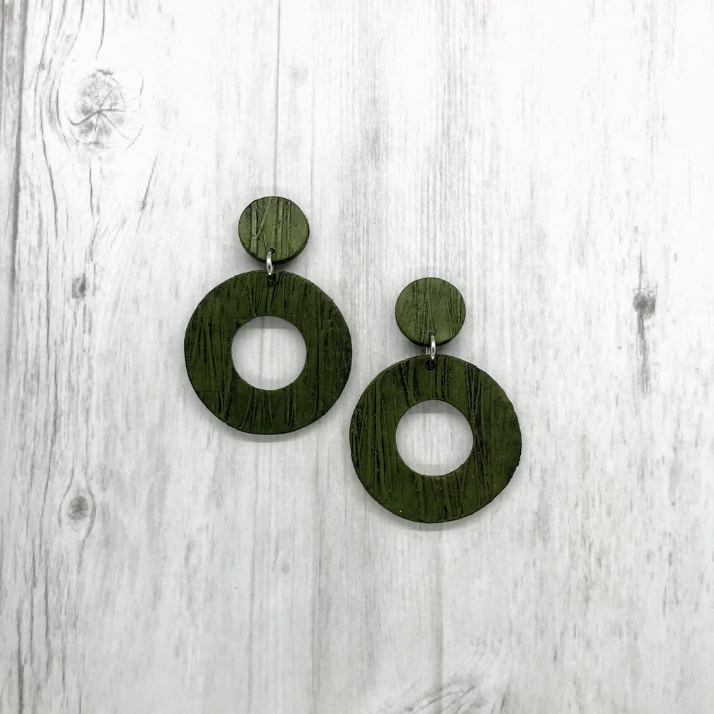 Olive Textured Earrings, Roundup