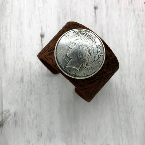 Silver Dollar Cuff, Lady Liberty