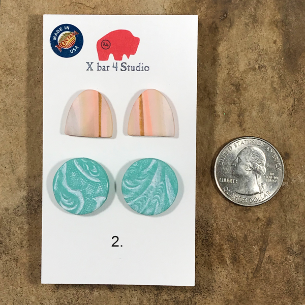 Stud Earrings 2-pack sets