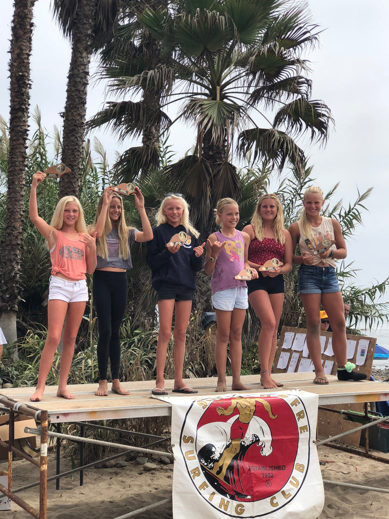 Congratulations to the Girls 9-13 division at the San Onfore surf club contest this weekend. They all absolutely killed it!