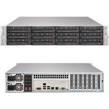 Supermicro SuperStorage 6029P-E1CR12H Barebone System - 2U Rack-mountable - Intel C624 Chipset - Socket P LGA-3647 - 2 x Processor Support - Black