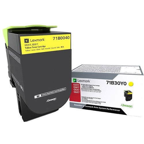 Lexmark Unison Toner Cartridge - Yellow