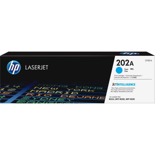 HP 202A Toner Cartridge - Cyan