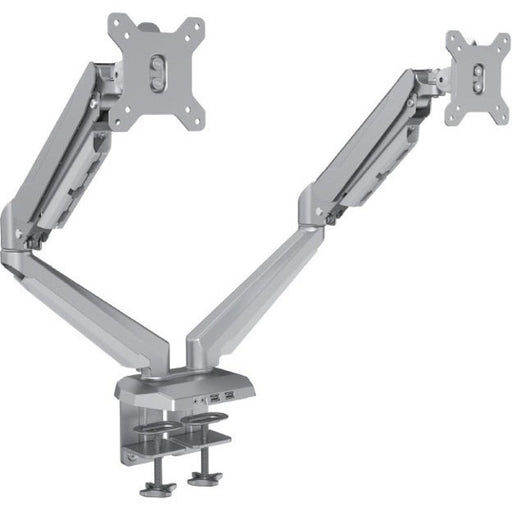 StarTech.com Desk Mount Dual Monitor Arm with USB & 3.5mm Audio - Desk Clamp Ergonomic VESA Mount for up to 30 inch Displays - Full Motion