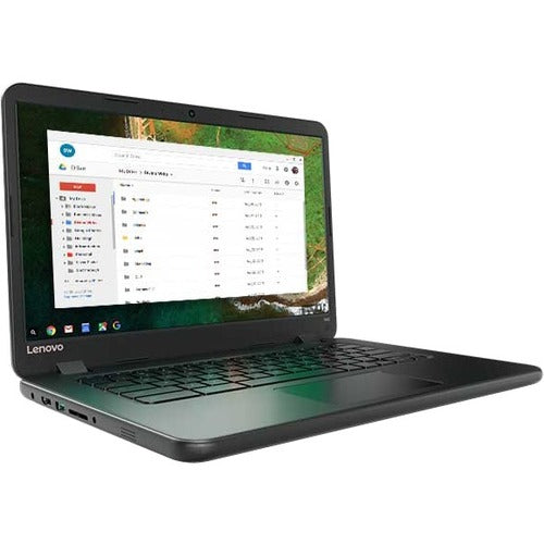 "Lenovo Chromebook 80US0003US 14"" Chromebook - 1366 x 768 - Celeron N3060 - 2 GB RAM - 16 GB Flash Memory - Black"