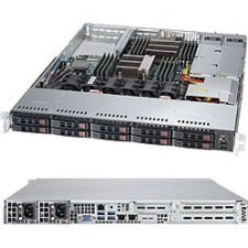 Supermicro SuperServer 1028R-WC1R Barebone System - 1U Rack-mountable - Intel C610 Chipset - Socket LGA 2011-v3 - 2 x Processor Support - Black