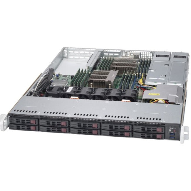 Supermicro SuperServer 1028R-WTRT Barebone System - 1U Rack-mountable - Intel C612 Express Chipset - Socket LGA 2011-v3 - 2 x Processor Support - Black