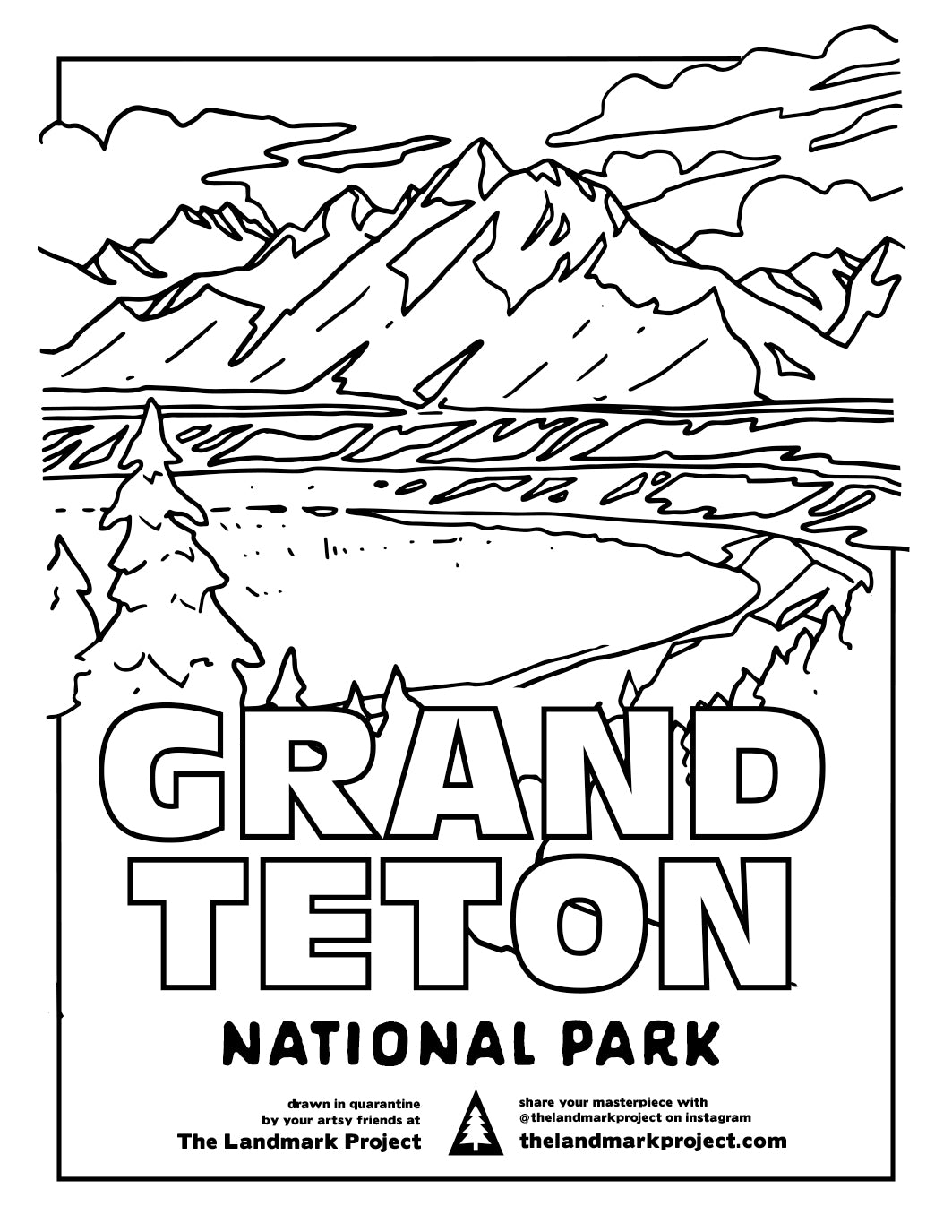 The Landmark Project Coloring Pages