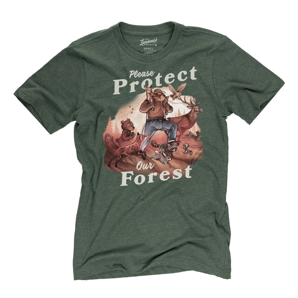 Protect Our Forest t-shirt in conifer