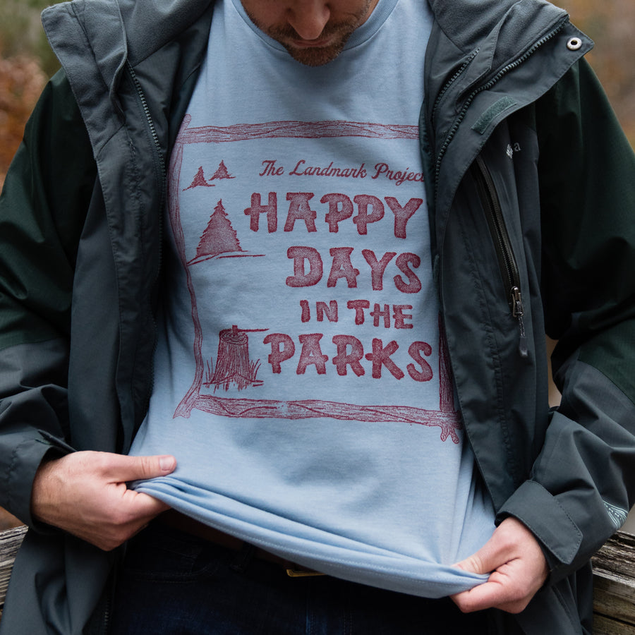 Happy Days In The Parks t-shirt in chambray blue
