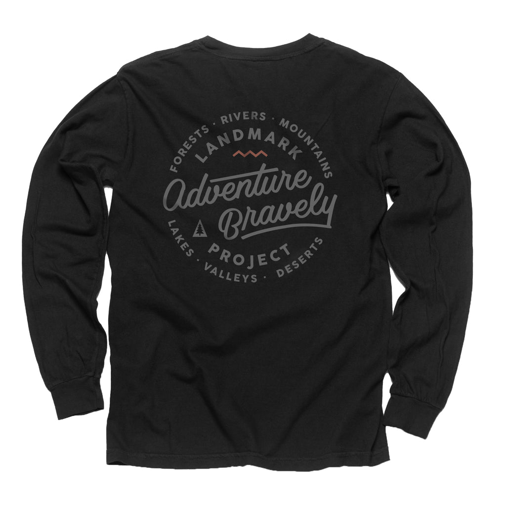 Adventure Bravely Pocket Tee - Long Sleeve