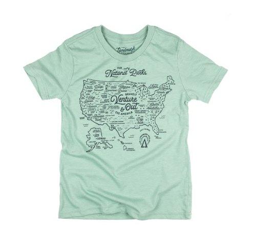 NPS Map Youth Tee