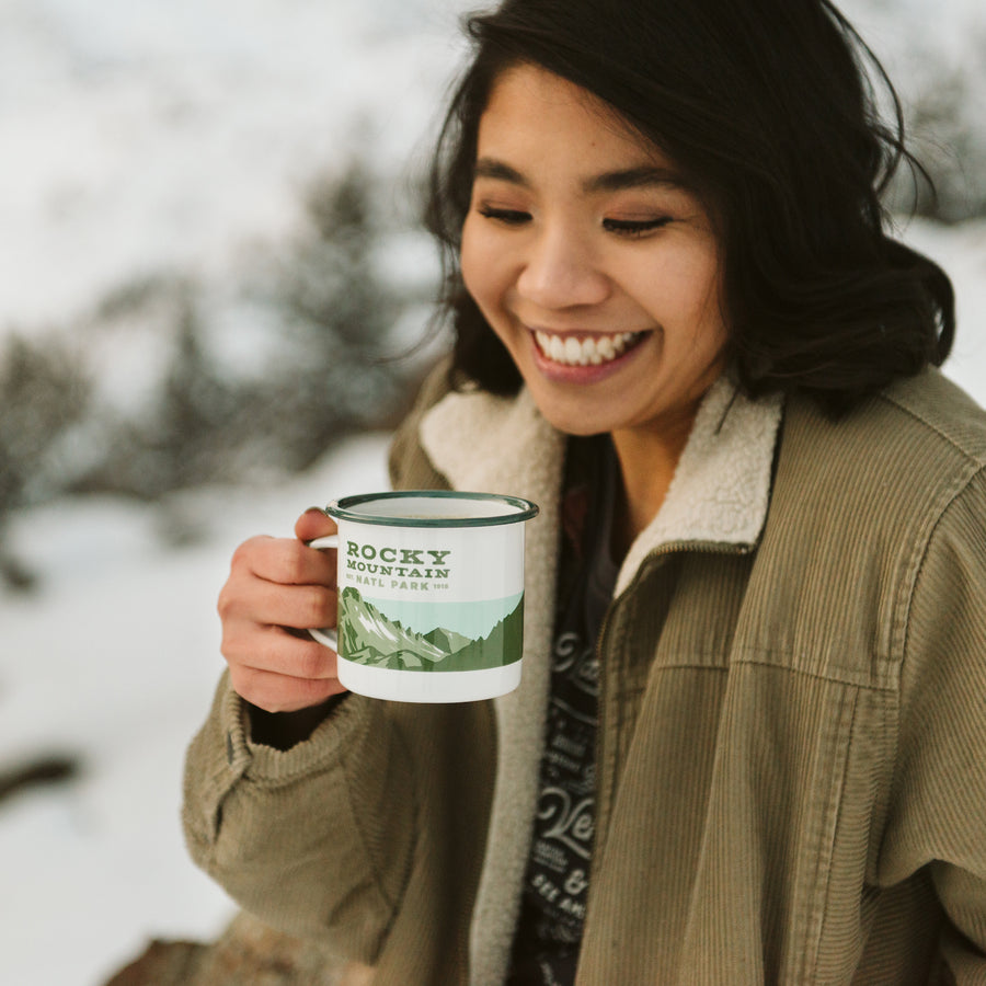 Rocky Mountains - Enamelware Mug