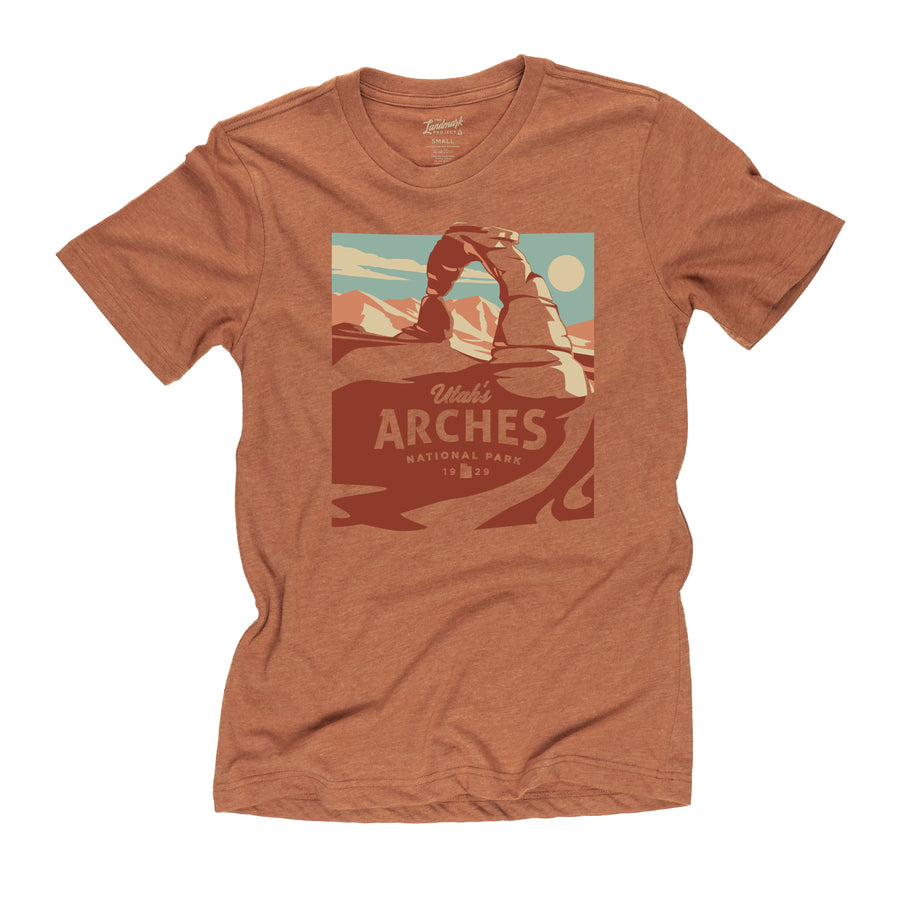 Arches National Park t-shirt in clay