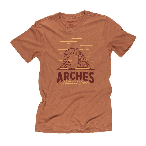 Arches National Park motif t-shirt in clay