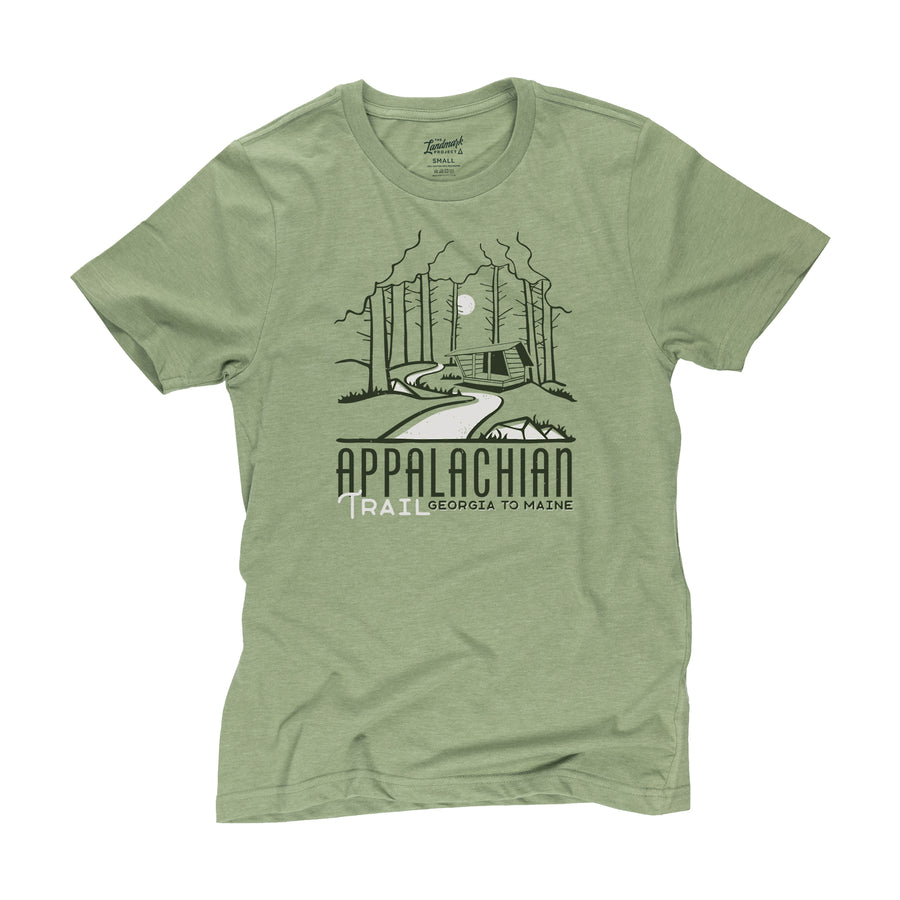Appalachian Trail motif t-shirt in cactus