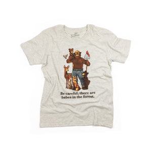 Babes in the Forest youth t-shirt in oatmeal