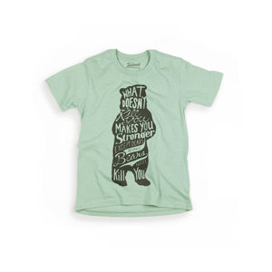 Bear youth t-shirt in seafoam