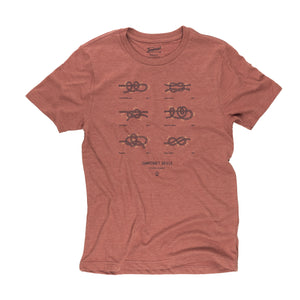 Campcraft Knots t-shirt in red rocks